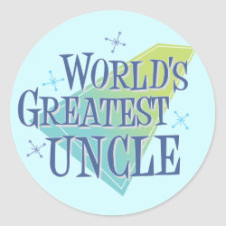 Round Sticker with World's Greatest Uncle design