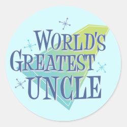 Round Sticker with World's Greatest Uncle design