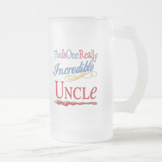 World's Greatest Uncle Frosted Glass Beer Mug