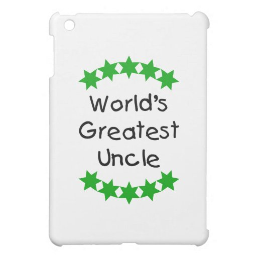 World's Greatest Uncle (green stars) Cover For The iPad Mini