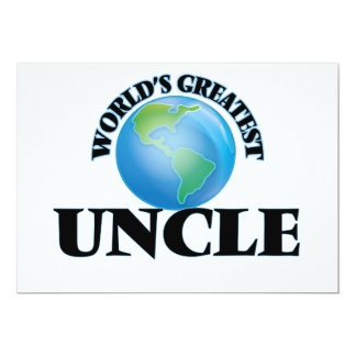 World's Greatest Uncle 5x7 Paper Invitation Card