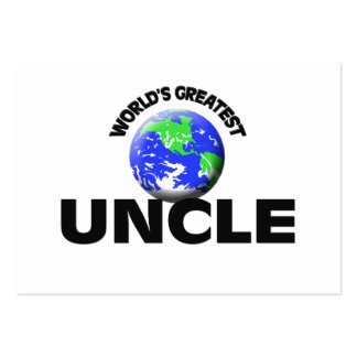 World's Greatest Uncle Large Business Cards (Pack Of 100)