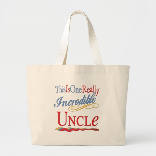 World's Greatest Uncle Large Tote Bag