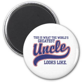 World's Greatest Uncle Fridge Magnet