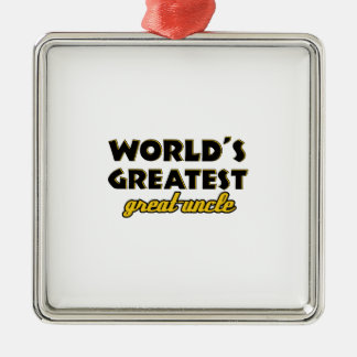 World's greatest uncle metal ornament