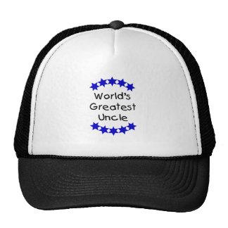 World's Greatest Uncle (navy stars) Trucker Hat