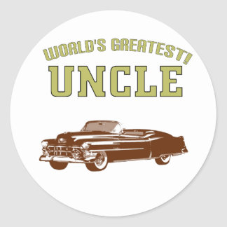 World's Greatest Uncle! Round Stickers