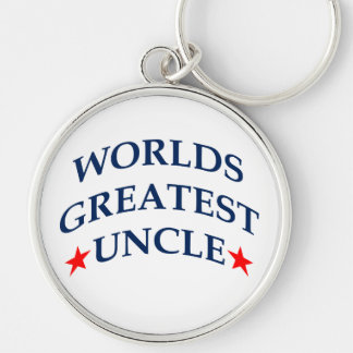 Worlds Greatest Uncle Silver-Colored Round Keychain