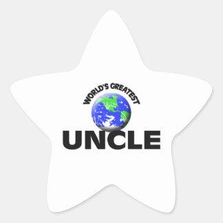 World's Greatest Uncle Star Sticker