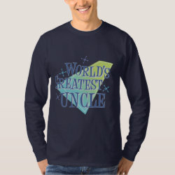 Men's Basic Long Sleeve T-Shirt with World's Greatest Uncle design