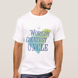 Men's Basic T-Shirt with World's Greatest Uncle design