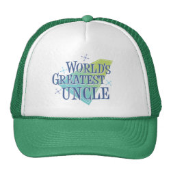 Trucker Hat with World's Greatest Uncle design