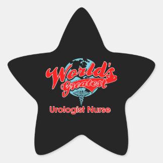 World's Greatest Urologist Nurse Star Sticker