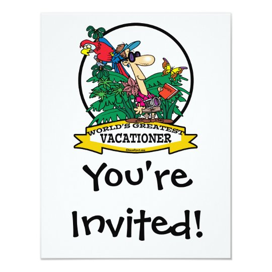 WORLDS GREATEST VACATIONER MEN CARTOON CARD