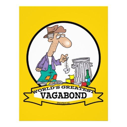 WORLDS GREATEST VAGABOND MEN CARTOON CUSTOM FLYER
