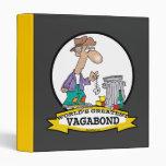 WORLDS GREATEST VAGABOND MEN CARTOON VINYL BINDER