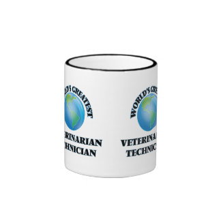 World's Greatest Veterinarian Technician Ringer Coffee Mug