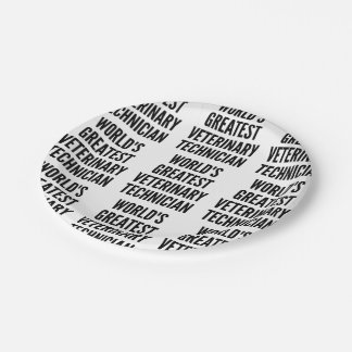Worlds Greatest Veterinary Technician 7 Inch Paper Plate