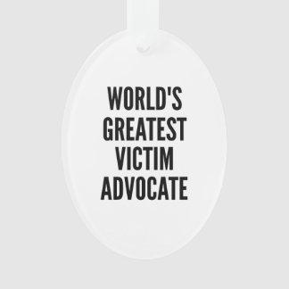 Worlds Greatest Victim Advocate Ornament