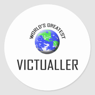 World's Greatest Victualler Round Stickers