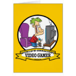 WORLDS GREATEST VIDEO GAMER KIDS CARTOON GREETING CARDS