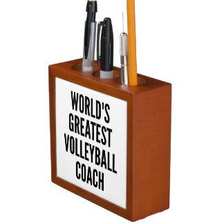 Worlds Greatest Volleyball Coach Pencil/Pen Holder