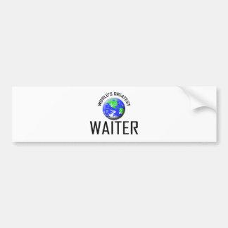 World's Greatest Waiter Bumper Sticker