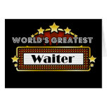 World's Greatest Waiter Greeting Cards