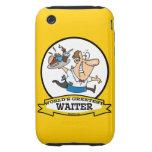 WORLDS GREATEST WAITER II MEN CARTOON TOUGH iPhone 3 COVERS