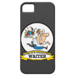 WORLDS GREATEST WAITER II MEN CARTOON iPhone 5 COVER