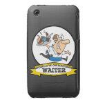 WORLDS GREATEST WAITER II MEN CARTOON Case-Mate iPhone 3 CASES