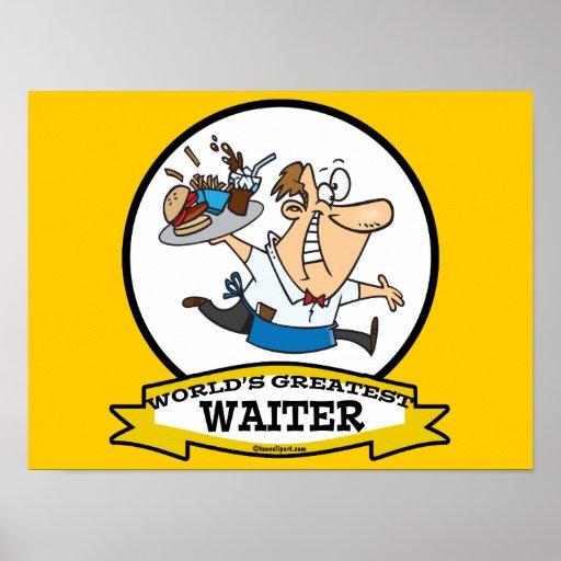 WORLDS GREATEST WAITER II MEN CARTOON POSTERS