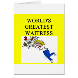 world's greatest waitress card