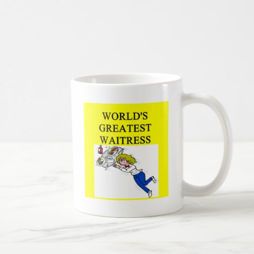 world's greatest waitress classic white coffee mug