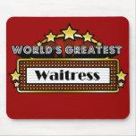 World's Greatest Waitress Mouse Pad