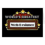 World's Greatest Web Designer Greeting Cards