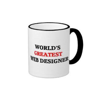 World's Greatest Web Designer Ringer Coffee Mug