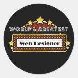 World's Greatest Web Designer Round Sticker
