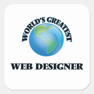 World's Greatest Web Designer Square Sticker