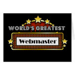 World's Greatest Webmaster Greeting Cards