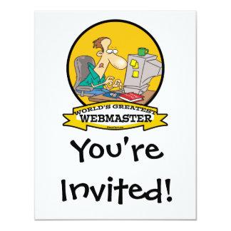 "WORLDS GREATEST WEBMASTER MEN CARTOON 4.25"" X 5.5"" INVITATION CARD"