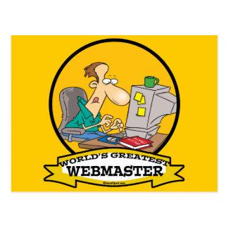 WORLDS GREATEST WEBMASTER MEN CARTOON POSTCARD