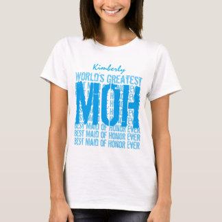 World's Greatest Wedding Maid of Honor MOH V021 T-Shirt
