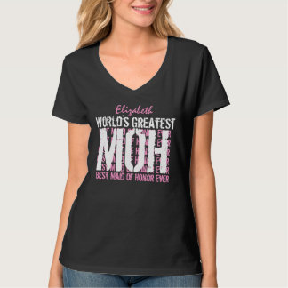 World's Greatest Wedding Maid of Honor MOH V02D T-Shirt