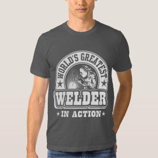 World's Greatest Welder In Action T Shirt