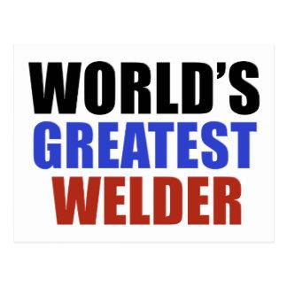 World's greatest WELDER Postcard