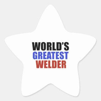 World's greatest WELDER Star Sticker