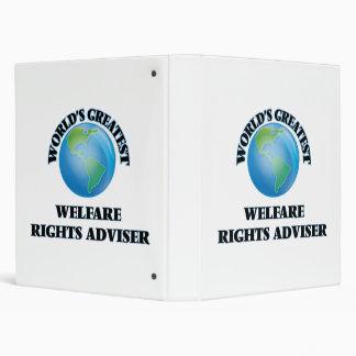 World's Greatest Welfare Rights Adviser 3 Ring Binder