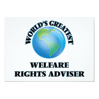 World's Greatest Welfare Rights Adviser Custom Invitation
