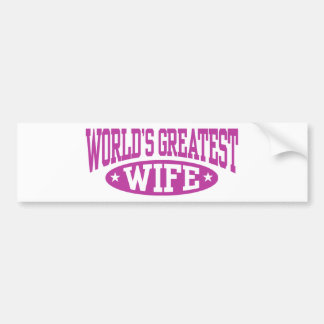 World's Greatest Wife Bumper Sticker